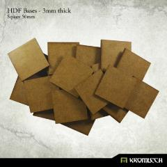 50mm Square Bases - 3mm HDF