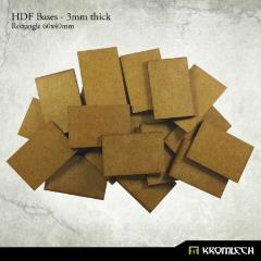 60x40mm Rectangle Bases - 3mm HDF