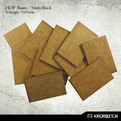 75x50mm Rectangle Bases - 3mm HDF