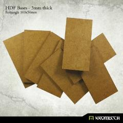 100x50mm Rectangle Bases - 3mm HDF