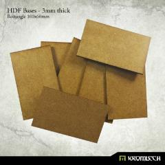 100x60mm Rectangle Bases - 3mm HDF