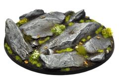 120mm Oval Base - Rocky Outcrop