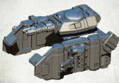 Legionary Assault Tank Sponsons - Heavy Flamers