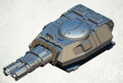 Legionary Assault Tank Turret - Twin Heavy Flamer Cannon