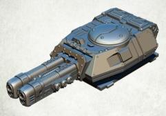 Legionary Assault Tank Turret - Twin Heavy Plasma Cannon