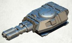 Legionary Assault Tank Turret - Twin Heavy Magma Cannon