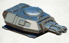 Legionary Assault Tank Turret - Twin Minigun