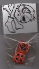 Biohazard Dice - Orange (2)