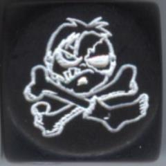 Zombie Pirate Jolly Roger Dice - Pirates of the Cursed Seas, Black (2)