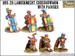 Landsknecht Crossbowmen w/Pavises