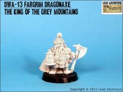 Fargrim Dragonaxe, The King of the Grey Mountains
