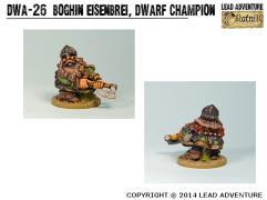 Boghin Eisenbrei, Dwarf Champion