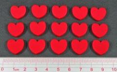 Heart Token Set - Red