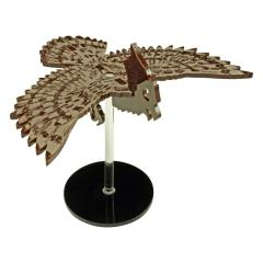 "Flying Owl Character Mount w/2"" Circular Base - Brown"