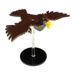 "Flying Hawk Character Mount w/2"" Circular Base - Brown"