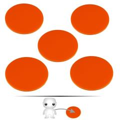 "2"" Pop Culture Figure Stand - Orange"