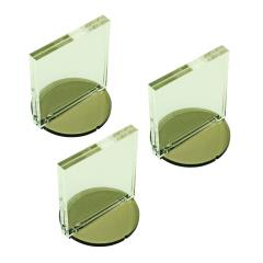 "Paper Figure Counter Stand - 2"" Circle Base, 2x2"" Tall Slot (3)"