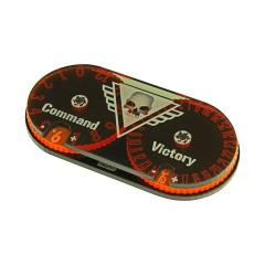 Command and Victory Point Tracker - Fluorescent Orange & Translucent Grey
