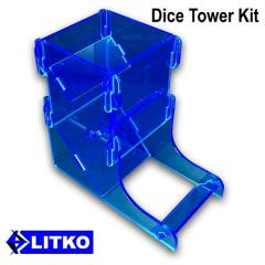 Fluorescent Blue Dice Tower