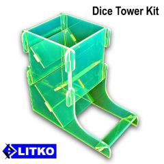 Fluorescent Green Dice Tower