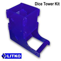 Translucent Blue Dice Tower