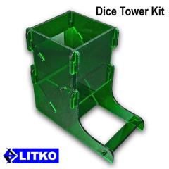 Translucent Green Dice Tower