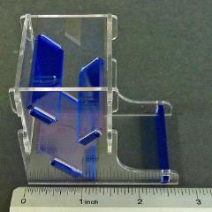 Mini Dice Tower - Translucent Blue