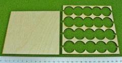 Rank Tray - 5x4 Formation, 25mm Bases