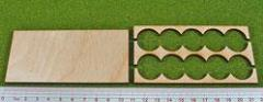 Rank Tray - 5x2 Formation, 20mm Round Bases