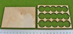 Rank Tray - 5x3 Formation, 20mm Round Bases