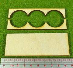 Rank Tray - 3x1 Formation, 30mm Round Bases