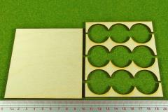 Rank Tray - 3x3 Formation, 30mm Round Bases