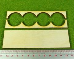 Rank Tray - 4x1 Formation, 30mm Round Bases