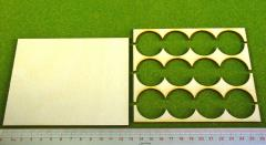Rank Tray - 4x3 Formation, 30mm Round Bases