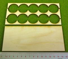 Rank Tray - 5x2 Formation, 30mm Round Bases