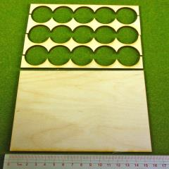 Rank Tray - 5x3 Formation, 30mm Round Bases