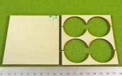 Rank Tray - 2x2 Formation, 40mm Round Bases