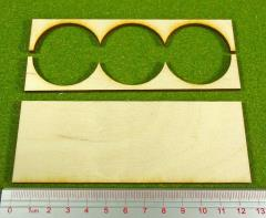 Rank Tray - 3x1 Formation, 40mm Round Bases
