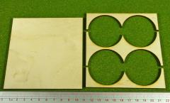 Rank Tray - 2x2 Formation, 50mm Round Bases