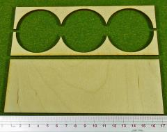 Rank Tray - 3x1 Formation, 50mm Round Bases