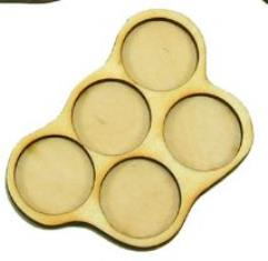 Horde Trays - 5 Figures, 25mm Round Bases