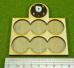 Dux Bellorum Tray w/Dial - 6 Figures, 25mm Round Bases