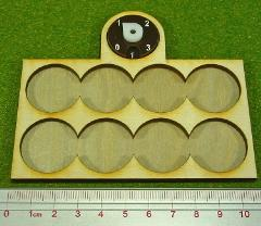 Dux Bellorum Tray w/Dial - 8 Figures, 25mm Round Bases