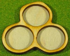 Horde Trays - 3 Figures, 25mm Round Bases