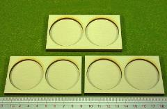Ring War Cavalry Tray - 2 Figures, 40mm Round Bases
