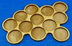 Horde Trays - 12 Figures, 25mm Round Bases