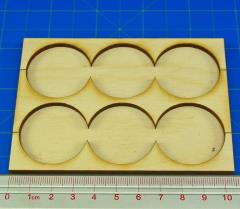 Rank Tray - 3x2 Formation, 32mm Round Bases