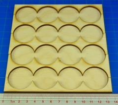 Rank Tray - 4x4 Formation, 32mm Round Bases