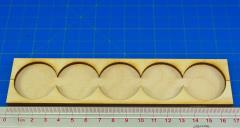 Rank Tray - 5x1 Formation, 32mm Round Bases