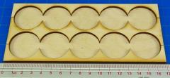 Rank Tray - 5x2 Formation, 32mm Round Bases